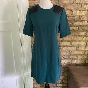 Marc by Marc Jacobs Teal Goblet Dress with Leather